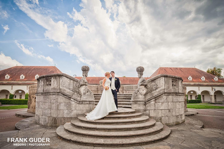 Brautpaar im Sprudelhof in Bad Nauheim